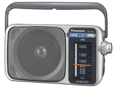 AM 1バンドラジオ(シルバー)