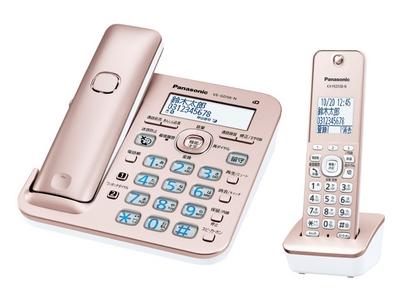 コードレス電話機 子機1台付き(ピンクゴールド)