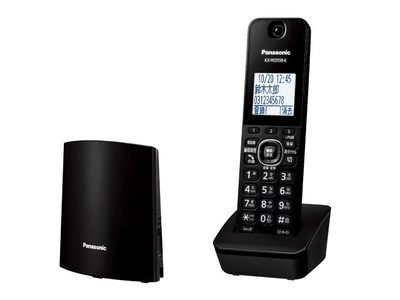 コードレス電話機 子機1台付き(ブラック)